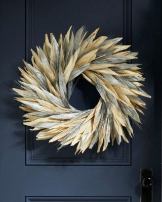 Silver Spring Corn-Husk Wreath