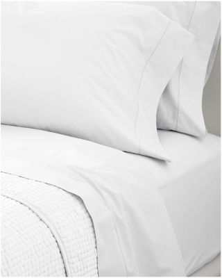 Wrinkle-Resistant Embroidered Sateen Fitted Sheet