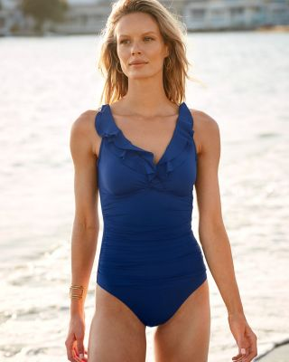 Ralph Lauren Ruffle One-Piece Swimsuit