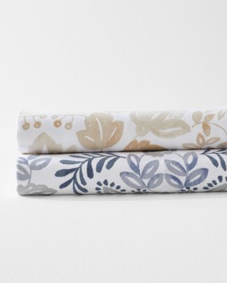 Folk Floral Signature Flannel Sheets