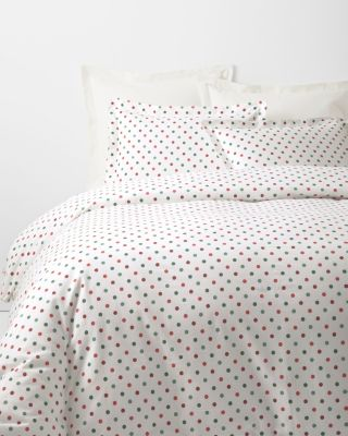 Polka-Dot Flannel Duvet Cover