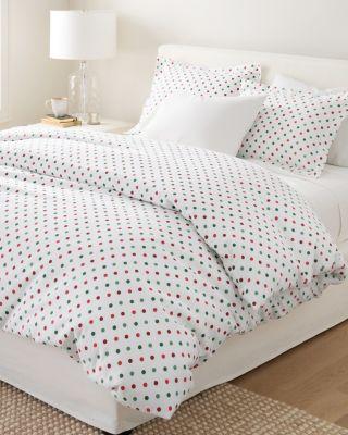 Polka-Dot Flannel Duvet Cover