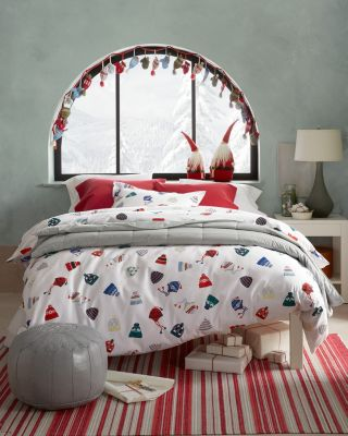 Hat Party Flannel Bedding and Pillow Cover