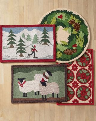 Holiday Hooked Wool Rug