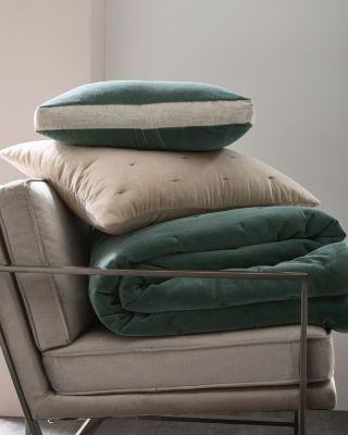 EILEEN FISHER Organic-Cotton Velvet and Linen Quilt