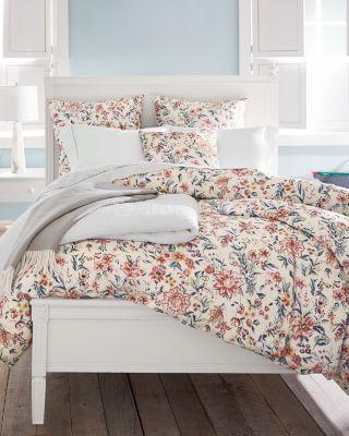 Garnet Hill Mia Floral Cotton Duvet Cover