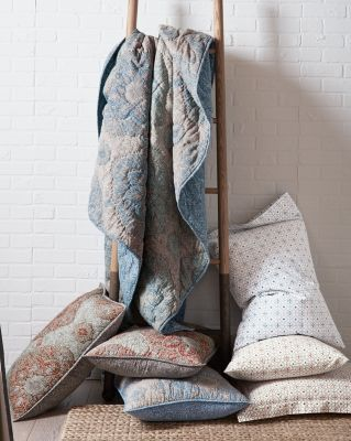 Evora Printed-Linen Quilt By Garnet Hill