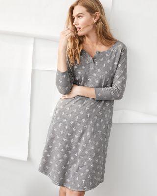 Organic-Cotton Rib-Detail Nightgown