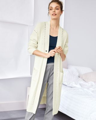 Chunky-Rib Sweater Robe