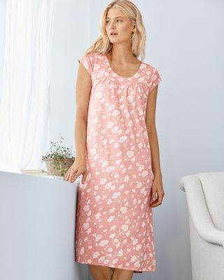 Organic-Cotton Ruched Knit Nightgown