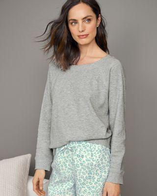 Organic-Cotton Waffle-Knit Pajama Top