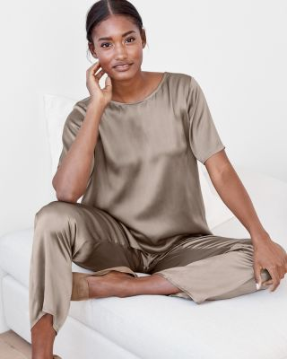 EILEEN FISHER Washed-Silk Pajamas