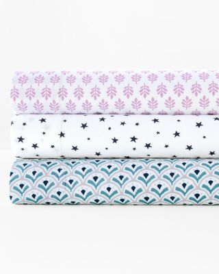 Playful Prints Cotton Jersey-Knit Sheets