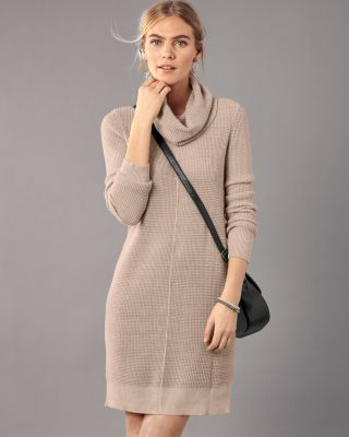 Garnet Hill Easy Cowl-Neck Sweater Dress