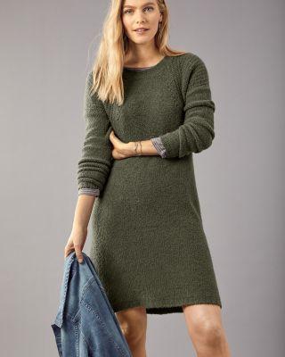 Garnet Hill A-Line Sweater Dress