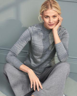Organic-Cotton Funnel-Neck Sweater