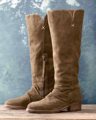 Eliana Slouchy Suede Boots