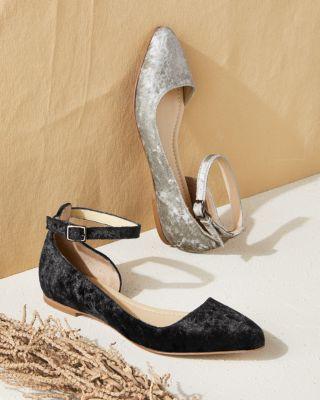 Nella Ankle-Strap Ballet Flats