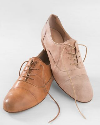Italian Suede Serafina Modern Oxford Shoes