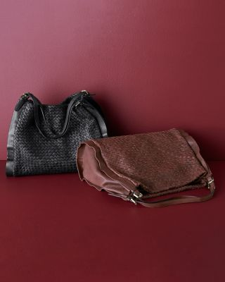 Italian Leather Vienna Woven Shoulder Bag