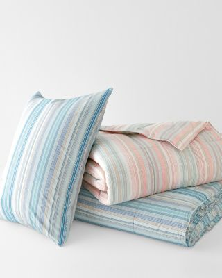 Multistripe Down Comforter By Garnet Hill