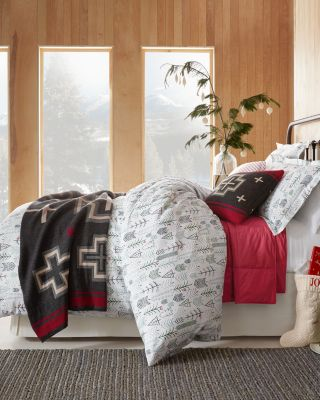 Winter Trees Flannel Duvet Cover