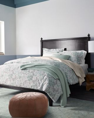 Arden Rose Hemstitched Supima Percale Duvet Cover