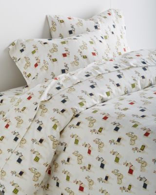 Holiday Llama Flannel Duvet Cover
