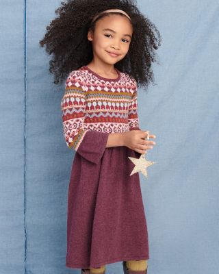 Girls' Cozy-Weather Sweater Dress