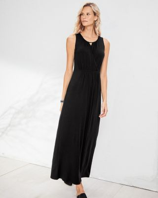 Crossover Knit Maxi Dress