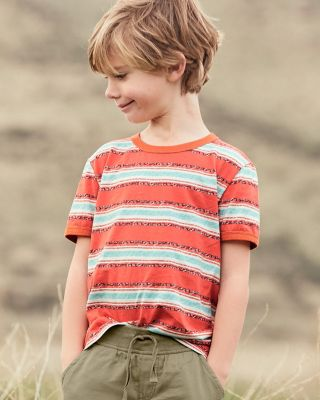 Boys' Organic Cotton Ringer Tee Shirt