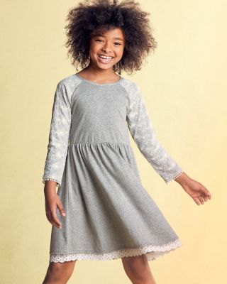Girls' Zoe Lace Knit Dress