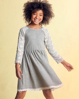 Girls' Zoe Lace Knit Dress