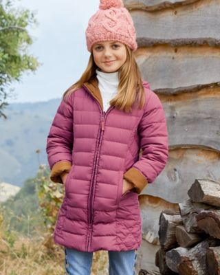 Garnet Hill Girls' Reversible Down Coat
