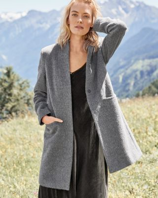 Alpaca and Wool Textured Coat