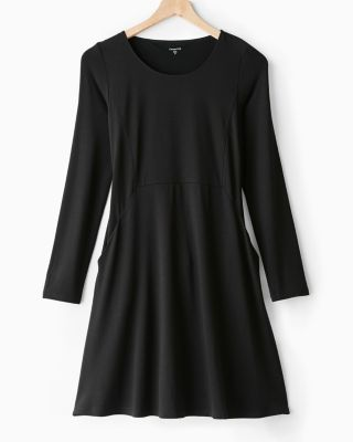 Pocket-Detail Trapeze Knit Dress