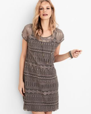Garnet Hill Embroidered Lace Dress