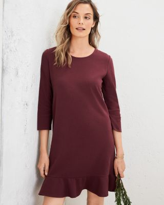 Garnet Hill Jewel-Neck Ponte Dress