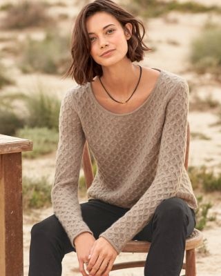 Cashmere Textured-Stitch Sweater