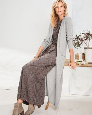 Easy Cashmere Duster Cardigan Sweater