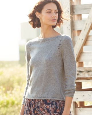 Cashmere Boatneck Pullover Sweater