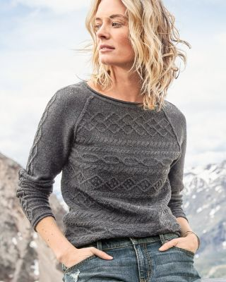 Cable-Detail Pullover