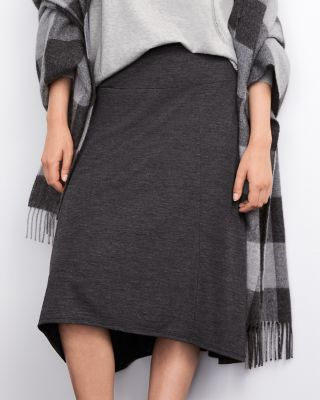 Seam-Detail Jersey Skirt