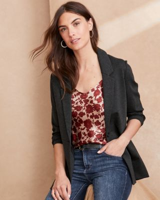 Garnet Hill Knit Relaxed Blazer