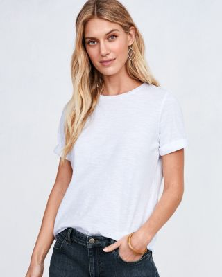 EILEEN FISHER Organic-Cotton Elbow-Sleeve Tee Shirt