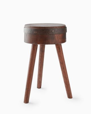 Vintage Wooden Accent Stool