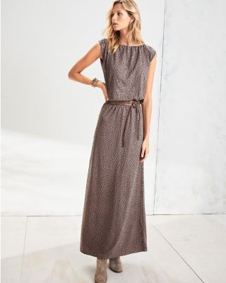 Sequined Knit Maxi Dress