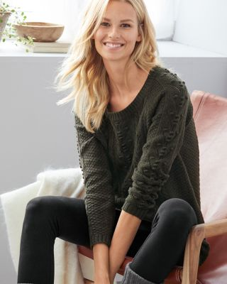 Textured Merino Tunic Sweater