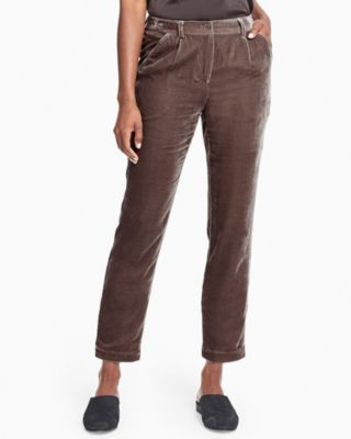Garnet Hill Soft Velvet Pants