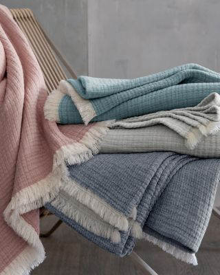 EILEEN FISHER Organic-Cotton Gauzy Throw